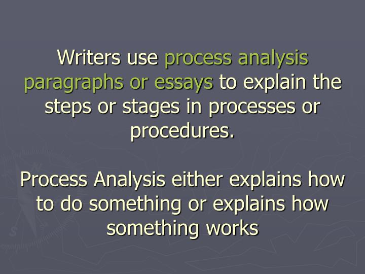 process analysis essay powerpoint