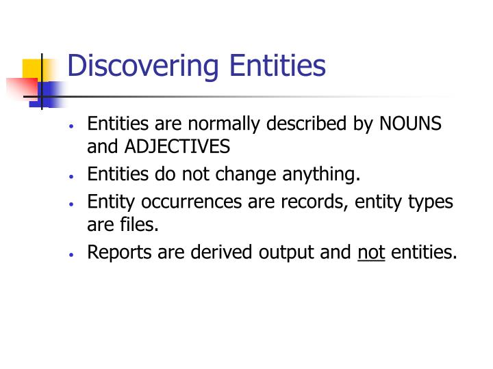Discovering Entities