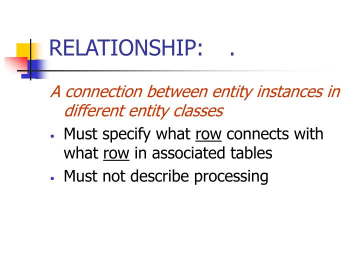 RELATIONSHIP:.
