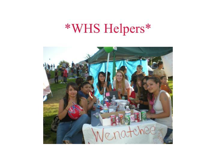 *WHS Helpers*