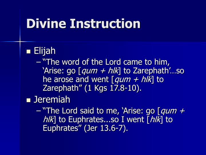 Divine Instruction