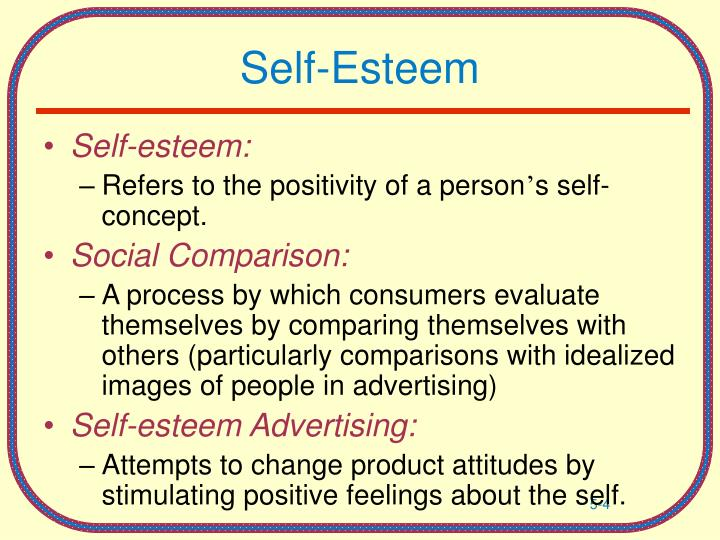 Self Esteem. - ppt download