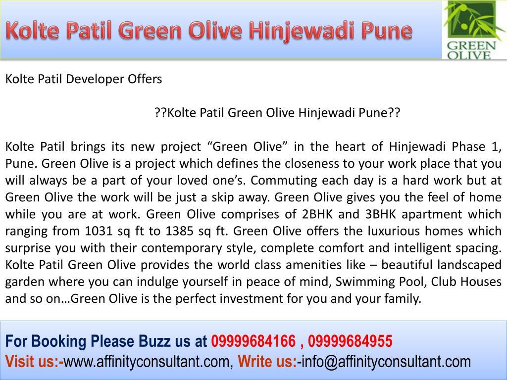 Kolte Patil Green Olive Hinjewadi Pune