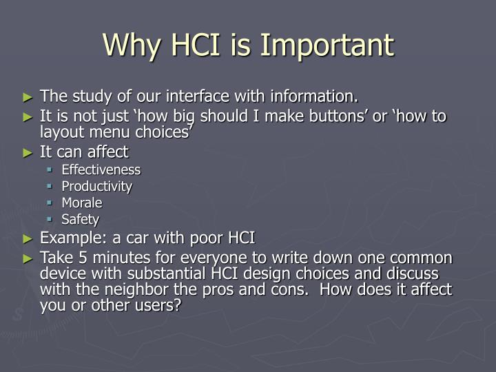 Why HCI is Important