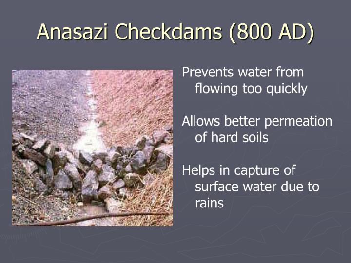Anasazi Checkdams (800 AD)