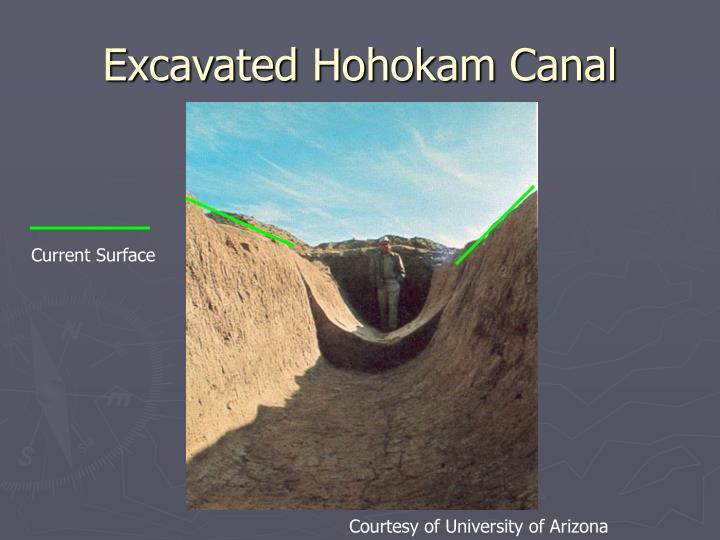 Excavated Hohokam Canal