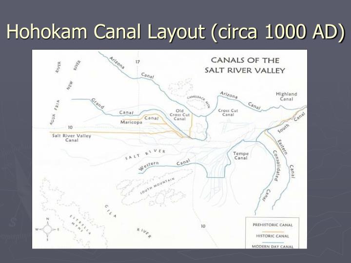 Hohokam Canal Layout (circa 1000 AD)
