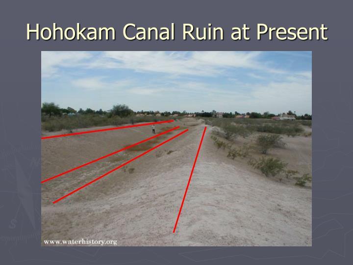 Hohokam Canal Ruin at Present