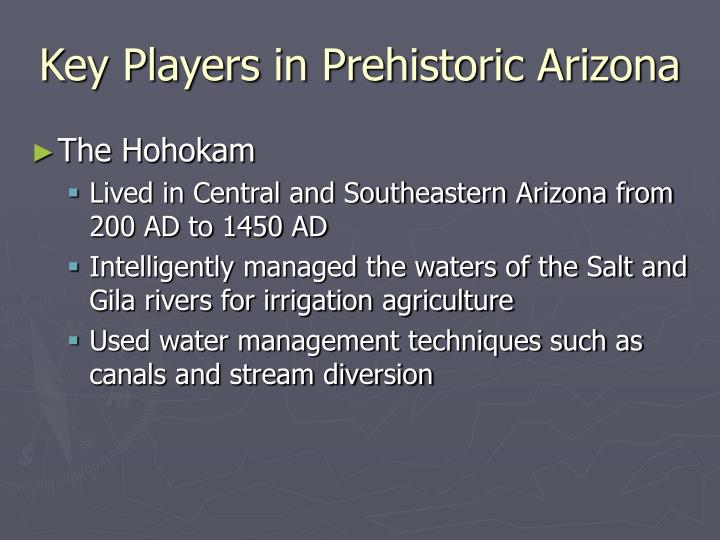 Key players in prehistoric arizona1