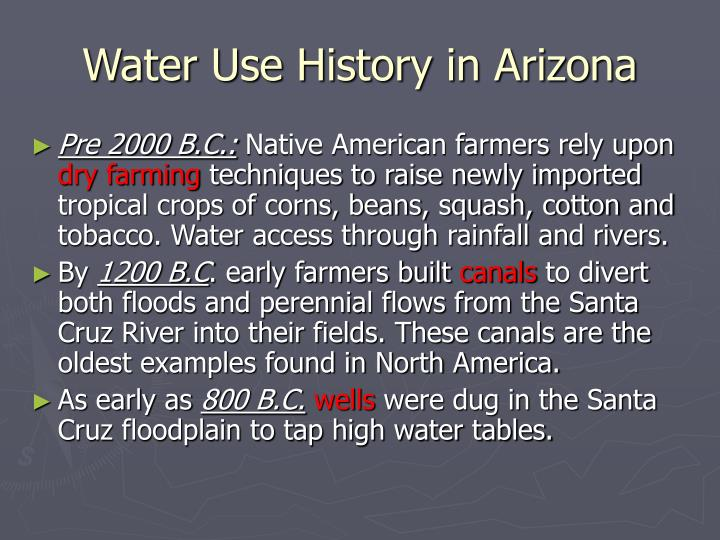 Water Use History in Arizona