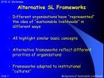 alternative sl frameworks