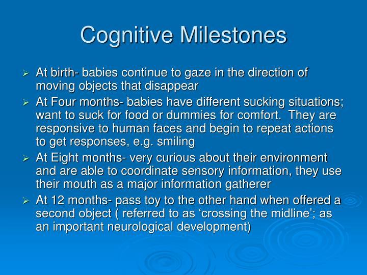 Cognitive Milestones