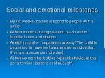 social and emotional milestones