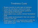 tiredness cues