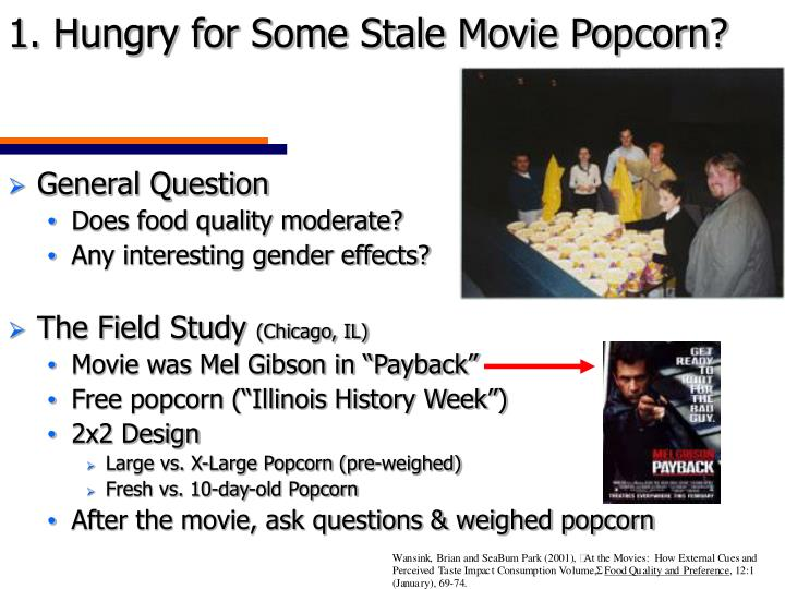 1. Hungry for Some Stale Movie Popcorn?