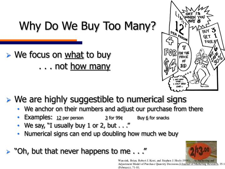 Why Do We Buy Too Many?