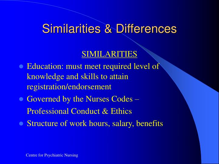 similarties and differences