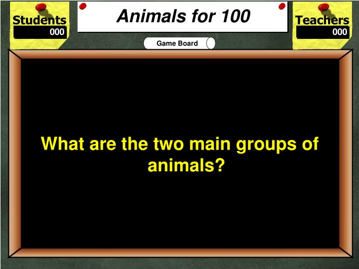 Animals for 100