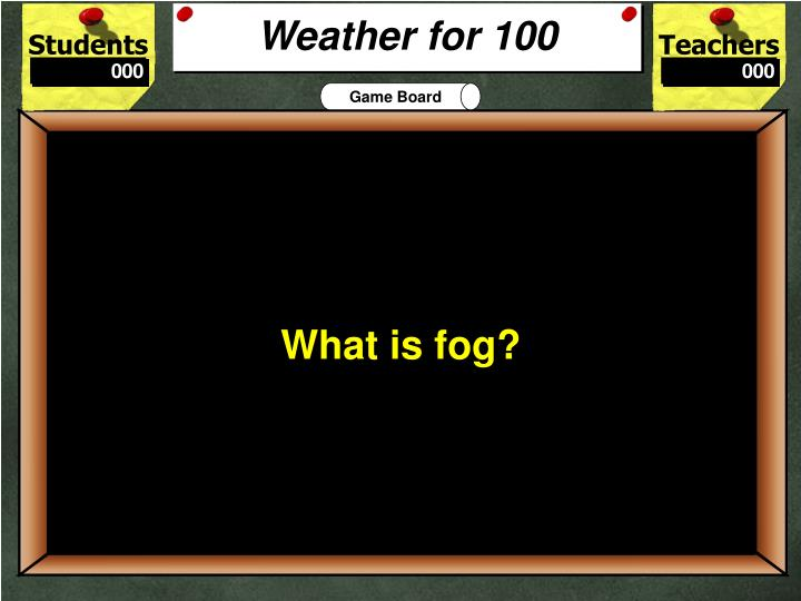 Weather for 100