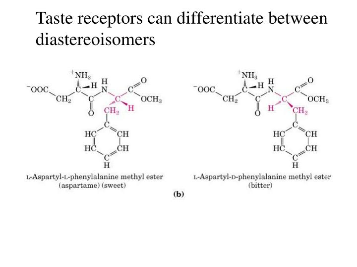 Taste receptors can differentiate between
