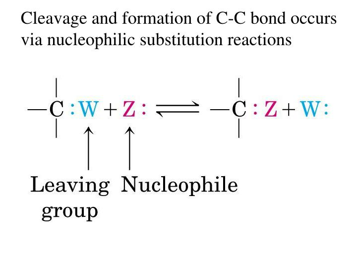 Cleavage and formation of C-C bond occurs