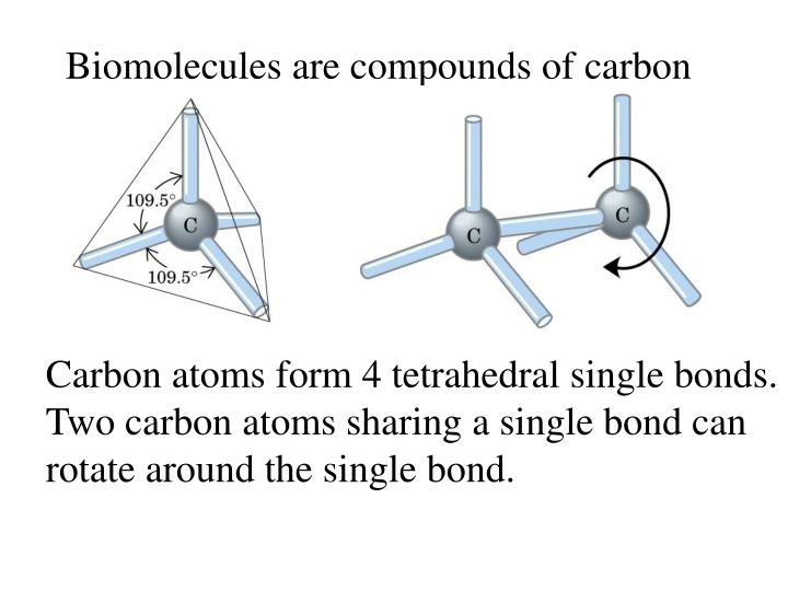 Biomolecules are compounds of carbon