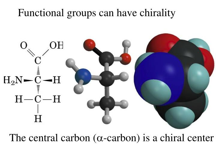Functional groups can have chirality