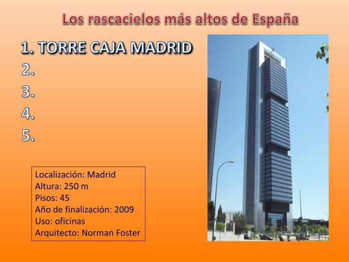 Los rascacielos más altos de España