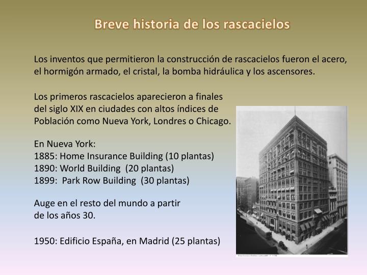 Breve historia de los rascacielos