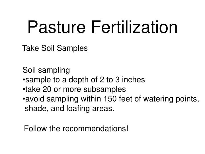 Pasture Fertilization