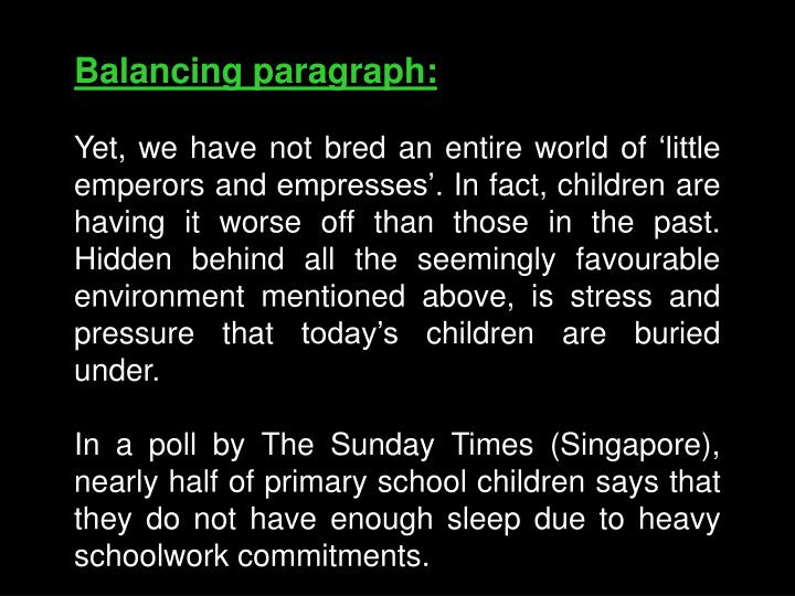 Balancing paragraph: