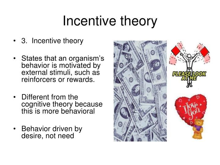 3.  Incentive theory