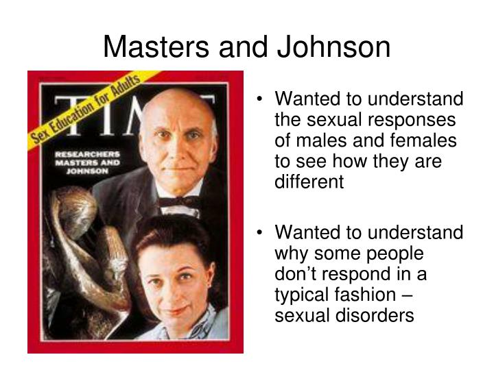Wanted to understand the sexual responses of males and females to see how they are different