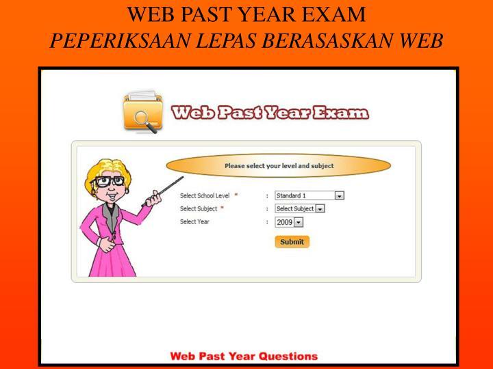 WEB PAST YEAR EXAM