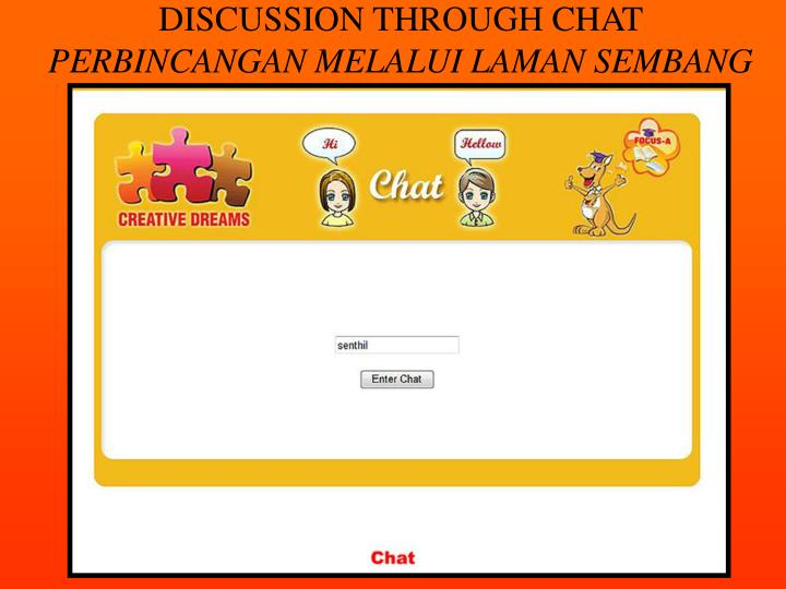 DISCUSSION THROUGH CHAT