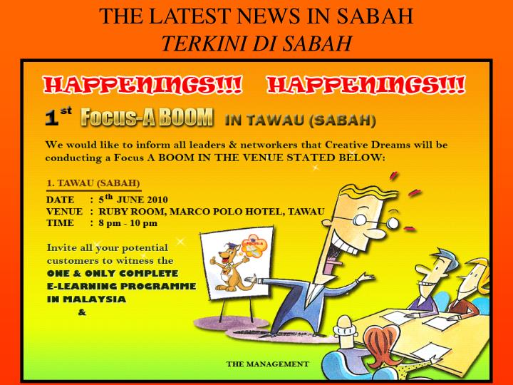THE LATEST NEWS IN SABAH