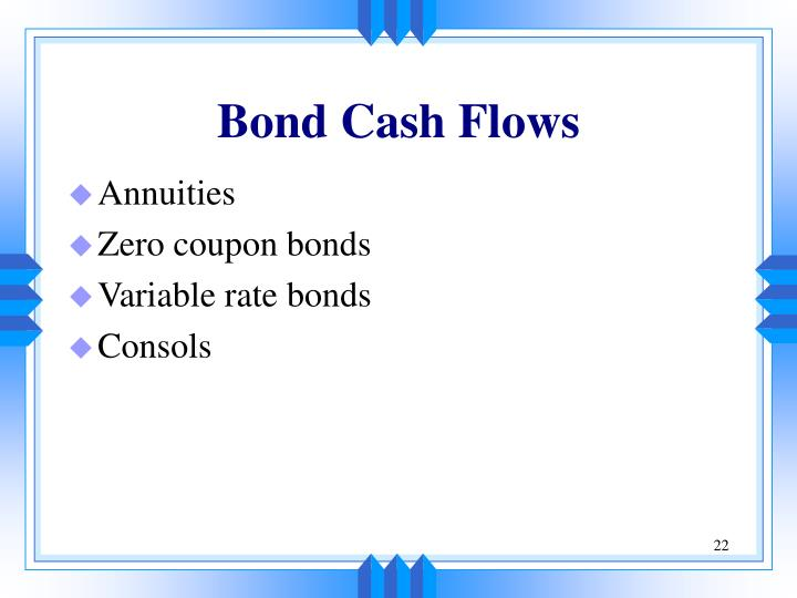 Bond Cash Flows