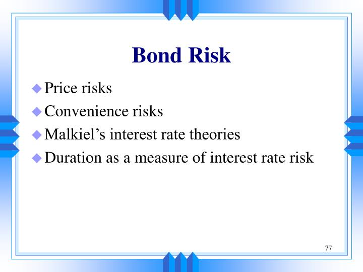 Bond Risk