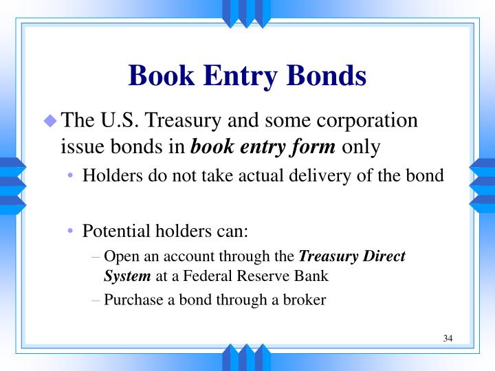 Book Entry Bonds
