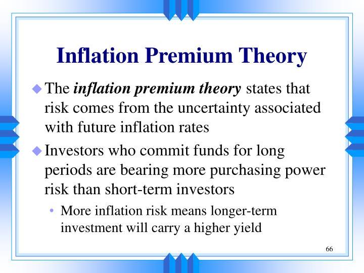 Inflation Premium Theory