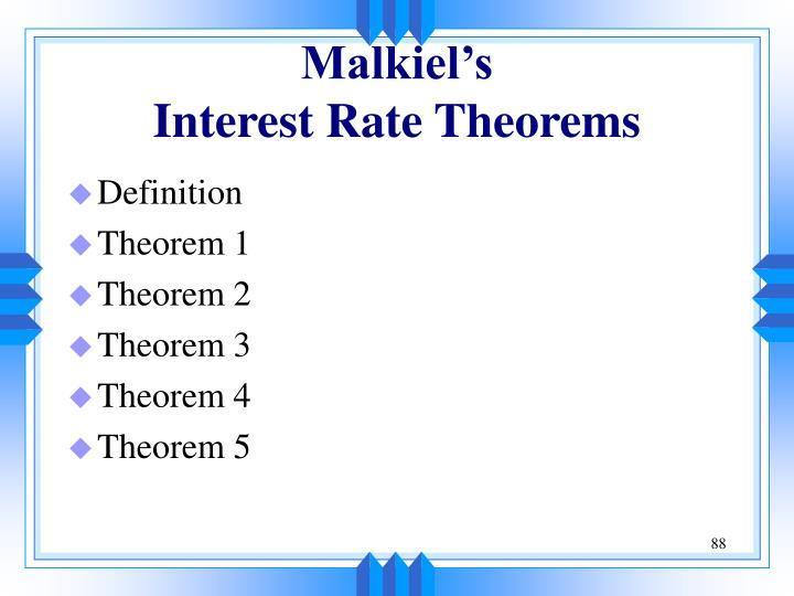 Malkiel's