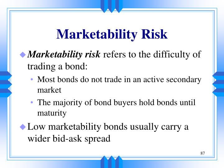 Marketability Risk