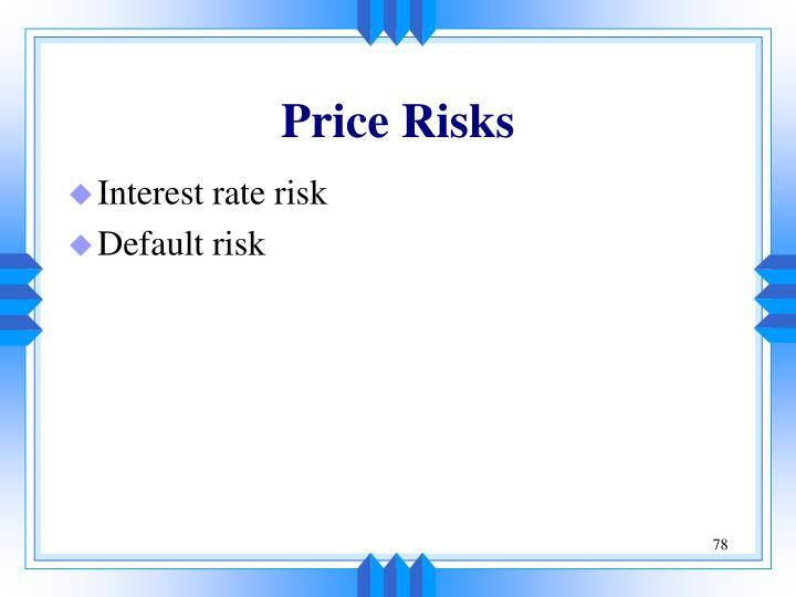 Price Risks