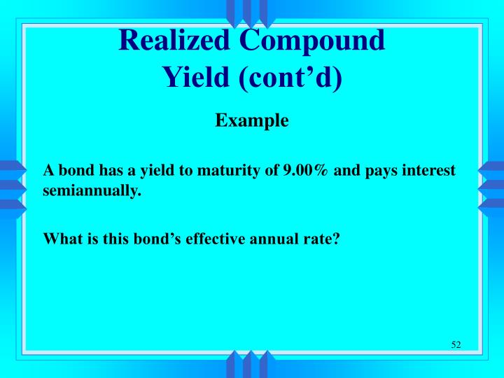 Realized Compound
