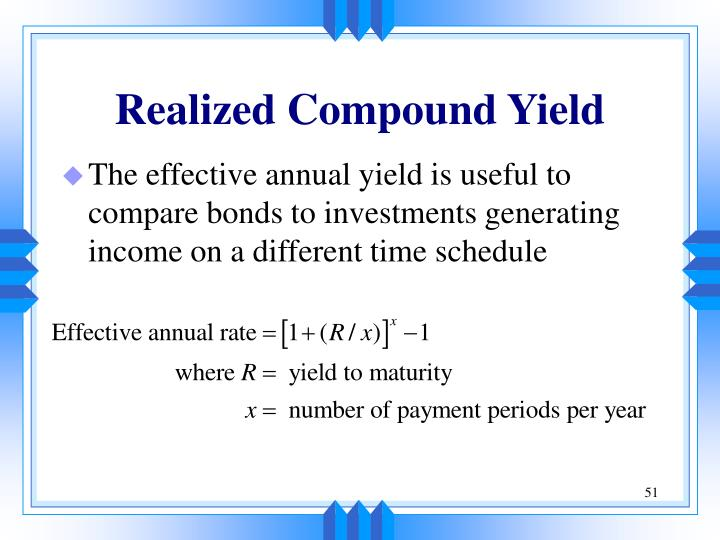 Realized Compound Yield