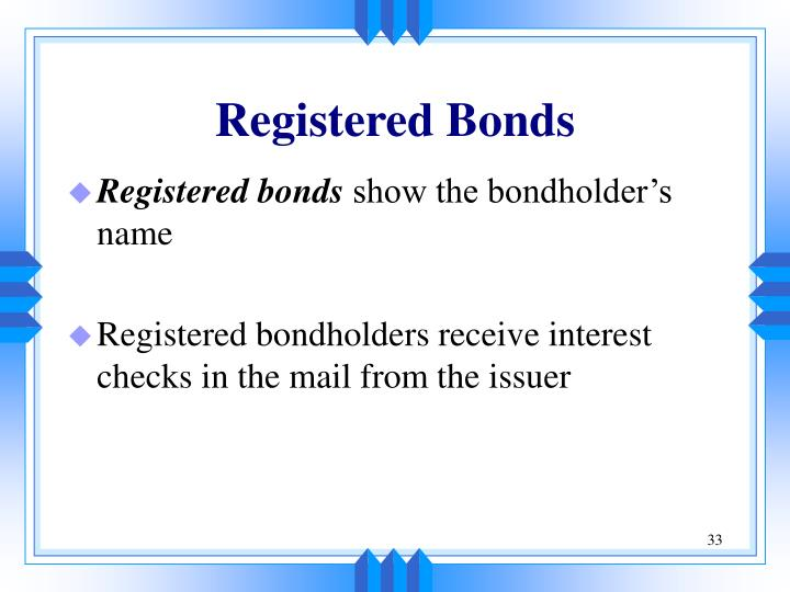 Registered Bonds