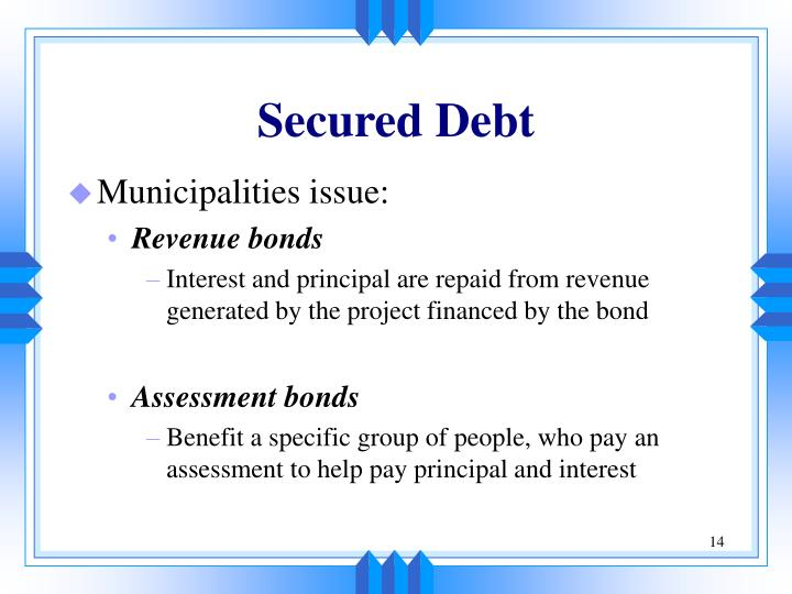 Secured Debt