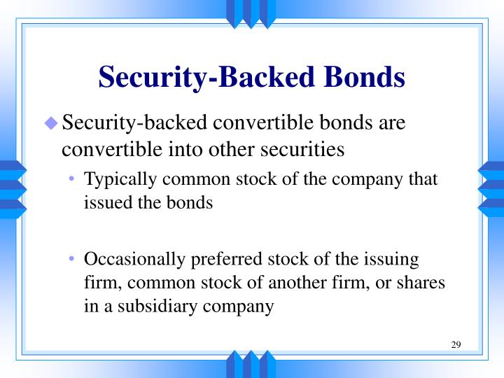 Security-Backed Bonds