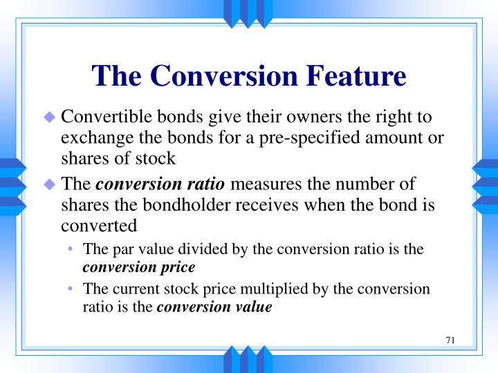 The Conversion Feature
