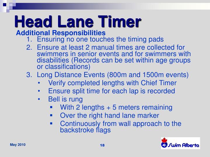 Head Lane Timer